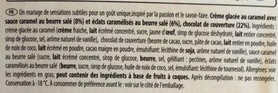 Salted Caramel Caramel au beurre salé - Ingrediënten