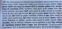 Vanilla Caramel Almond - Ingrédients - fr