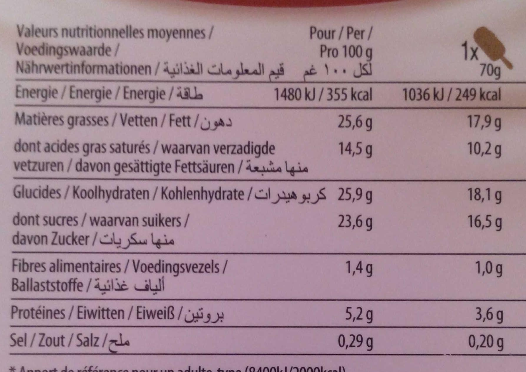 Vanilla Caramel Almond - Informations nutritionnelles - fr
