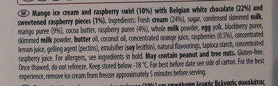 Mango & Raspberry ice cream - Ingredients - en