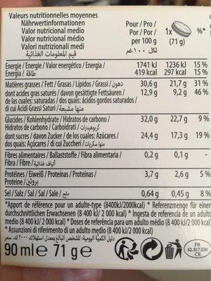 Cream Crisp Double Caramel - Informations nutritionnelles - fr