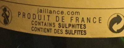 Clairette de Die doux - Ingrédients - fr