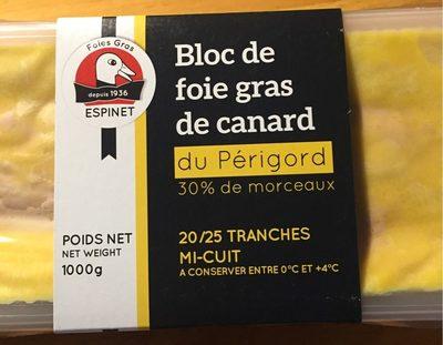 Bloc de foie gras de canard du Périgord 30% de morceaux - Product