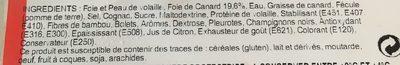 Mousse de foie de canard forestière - Ingrediënten - fr
