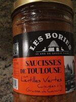 Saucisses de Toulouse aux lentilles vertes - Product - fr