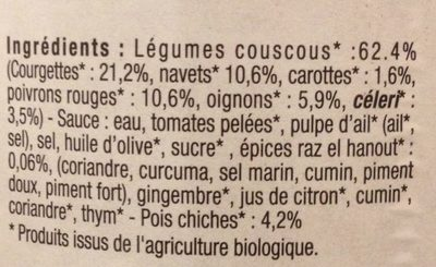 Légumes Couscous aux Épices - Ingrédients