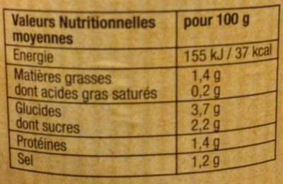 Légumes Couscous aux Épices - Informations nutritionnelles