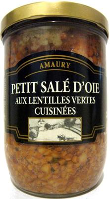 Petit Salé d'Oie Aux Lentilles Vertes Cuisinées - Produit