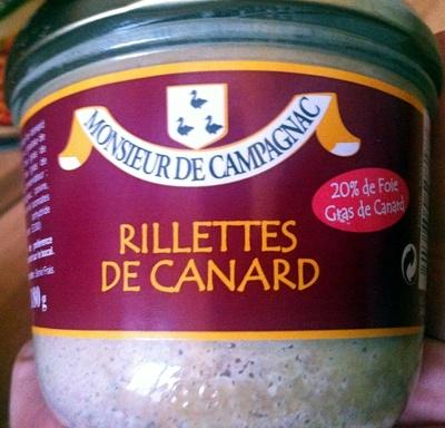 Rillettes de canard - 20% de foie gras de canard - Produit