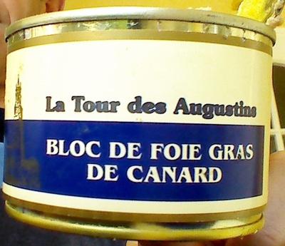 bloc de foie gras de canard la  des augustins