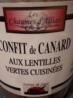 B.confit Canard / Lentilles - Product