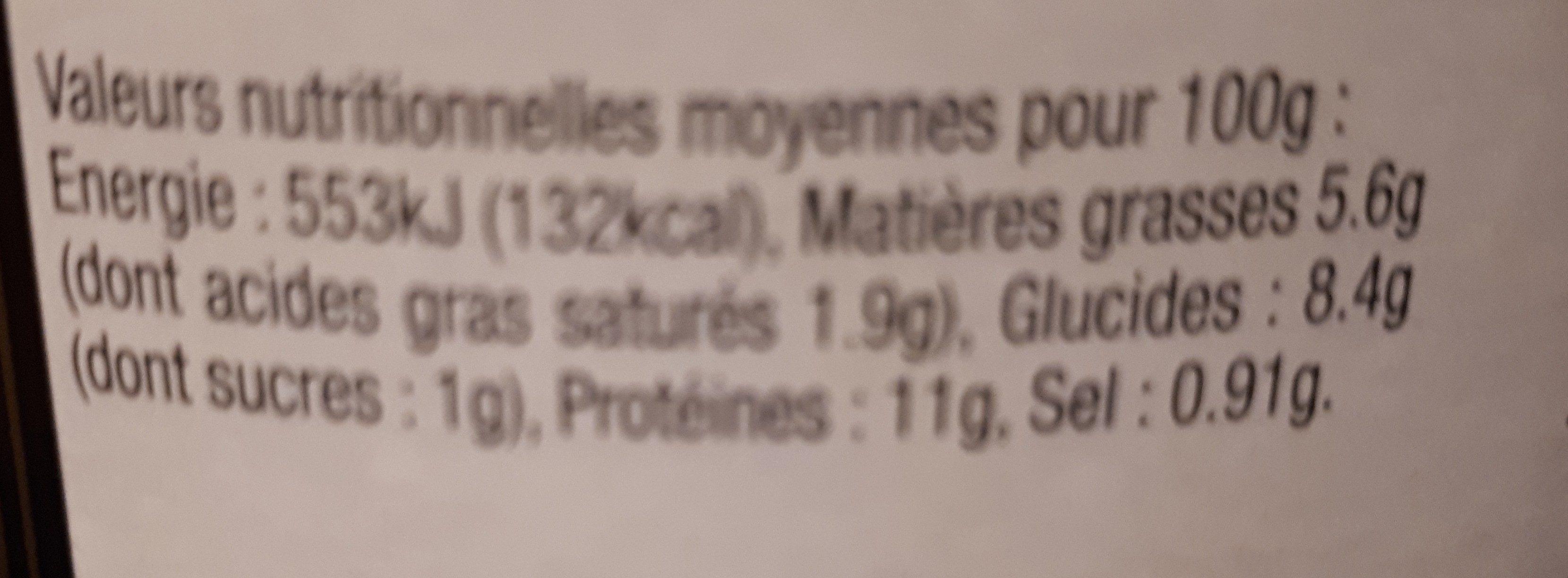 B.confit Canard / Lentilles - Ingrediënten