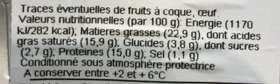 Chèvre - Informations nutritionnelles - fr