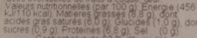Faisselle - Informations nutritionnelles - fr