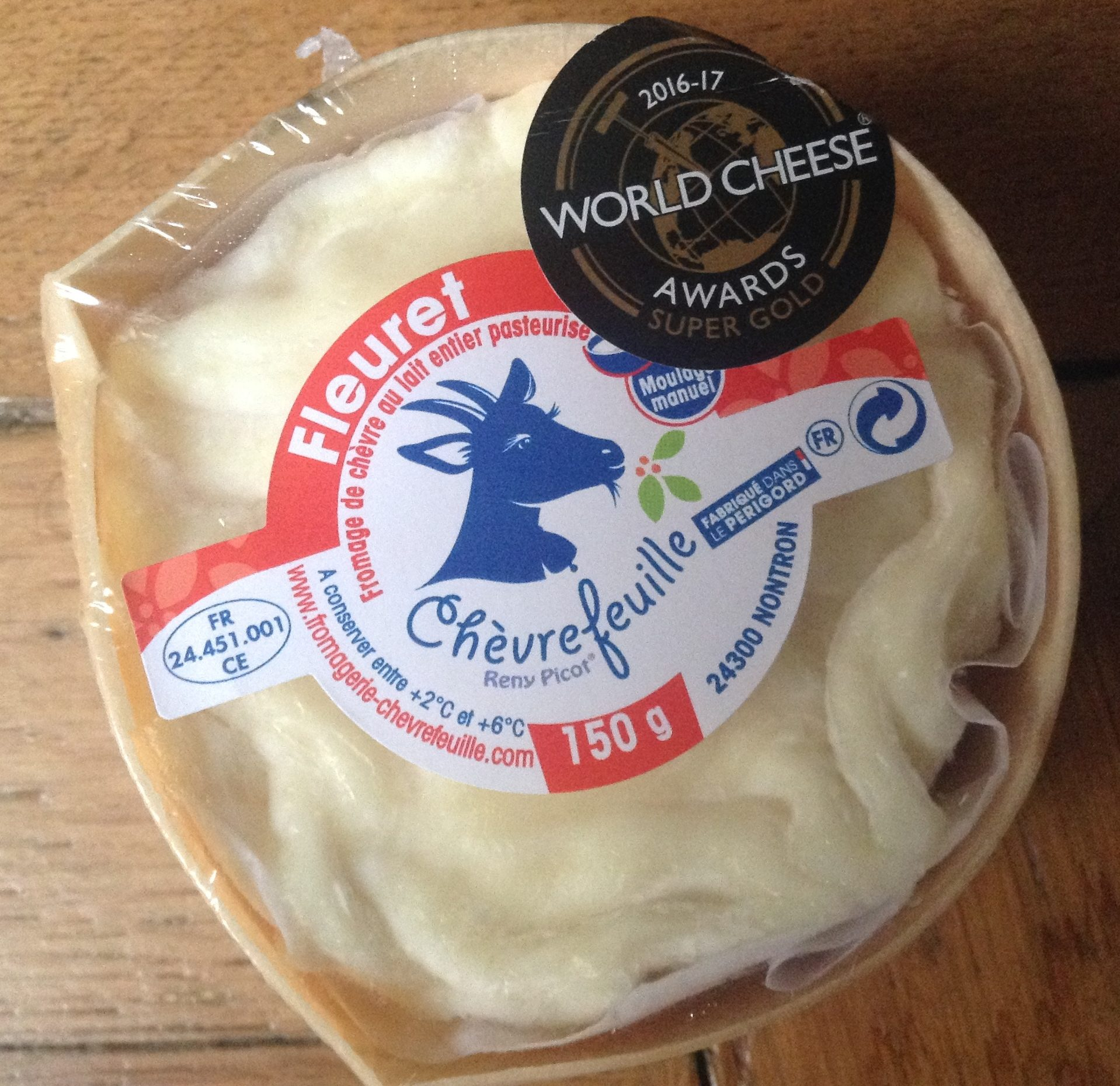 Fromage de chèvre au lait entier pasteurisé - Produit - fr