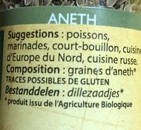 Aneth Graines - Ingredients - fr