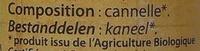 Cannelle - Ingrédients