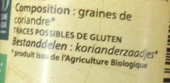 Coriandre Moulue - Ingrédients - fr