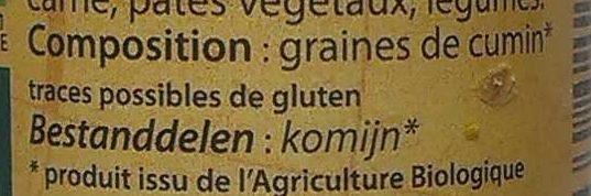 Cumin moulu - Ingrediënten - fr