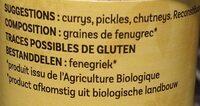Fenugrec moulu 55g - Ingredients - fr