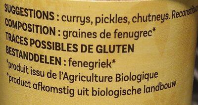 Fenugrec moulu 55g - Ingrediënten - fr