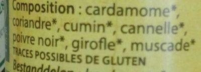 Garam Masala - Ingrediënten - fr
