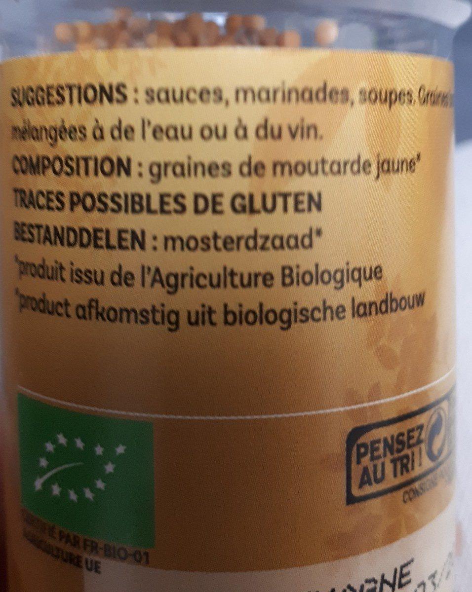 Moutarde Jaune Graines - Ingrediënten