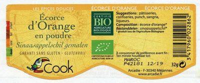 Ecorces d'Orange en Poudre - Ingrédients - fr