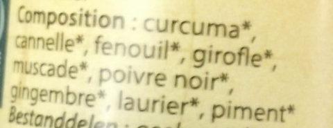 Ras El Hanout - Ingrediënten - fr