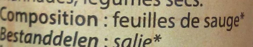 Sauge en poudre - Ingredients - fr
