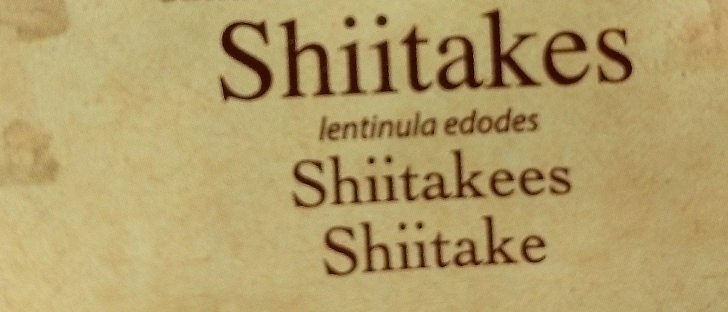 Shiitakes Entiers Sachet - Ingrédients