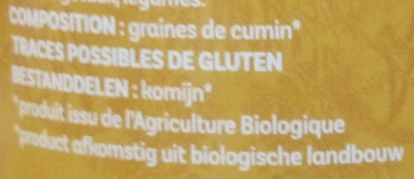 Cumin moulu - Ingredients - fr