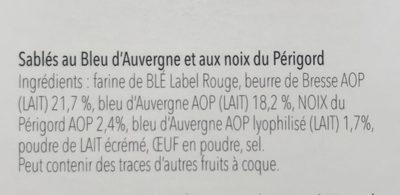 Sable bleu dauvergne et noix - Ingredients