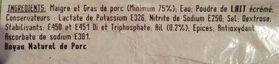 Saucisson à l'ail - Ingrediënten - fr