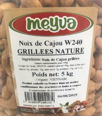 Noix de Cajou Grillées Nature - Nutrition facts - fr