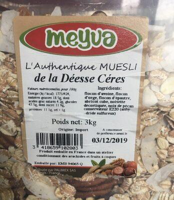 L'authentique muesli - Product - fr