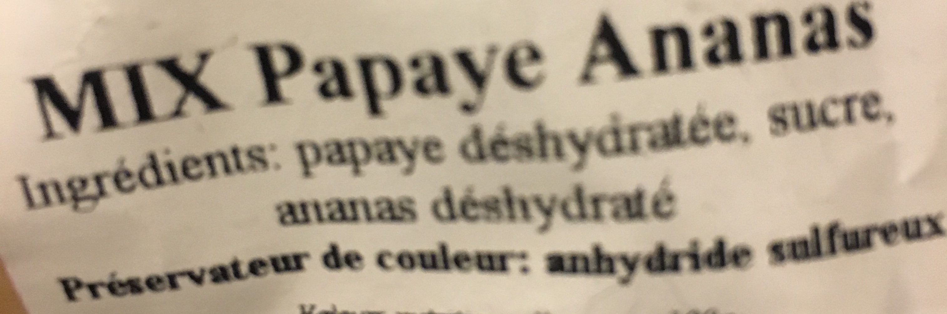 Meyva - Ingrediënten