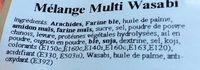 Melange multi wasabi - Ingredients - fr