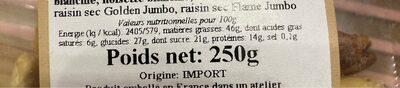 Mélange Mendiant Supérieur - Nutrition facts - fr