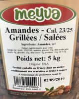 Amandes Grillées / Salées - Ingredients - fr