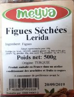 Figues sèches - Ingredients - fr