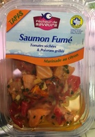 Tapas Saumon fumé tomates séchées & poivrons grillés marinade au citron - Produit