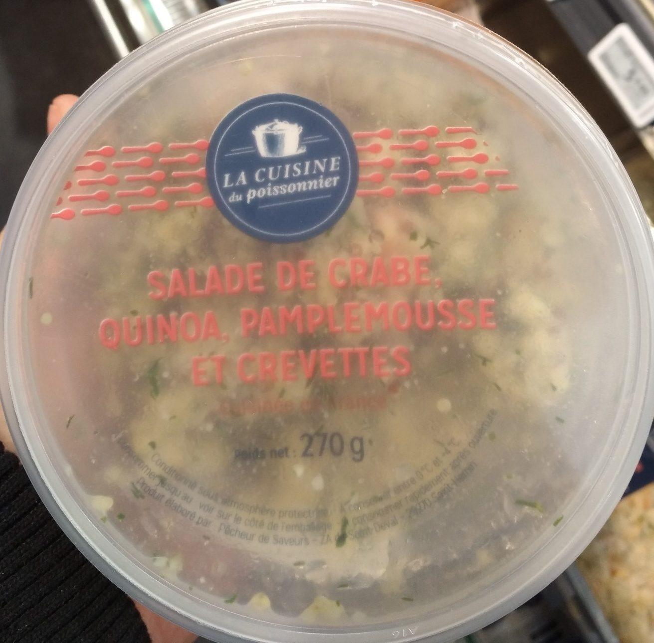 Salade de Crabe, Quinoa, Pamplemousse et Crevettes - Produit