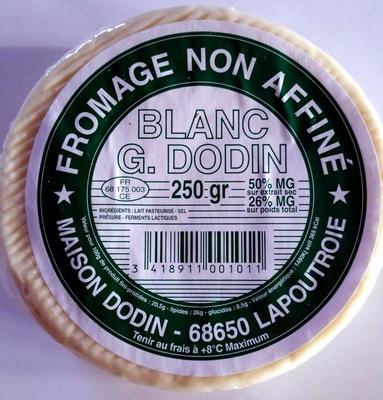 Fromage Non Affiné Blanc (26% M.G) - Produit