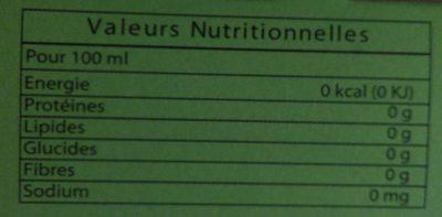 Thé Vert Menthe - Informations nutritionnelles - fr