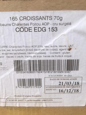 165 Croissants 70 g Beurre AOP Charentes-Poitou AOP - Product - fr