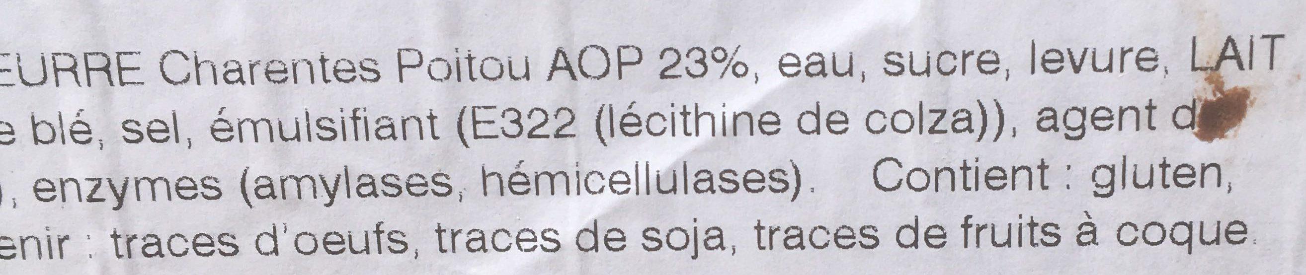 165 Croissants 70 g Beurre AOP Charentes-Poitou AOP - Ingredients - fr