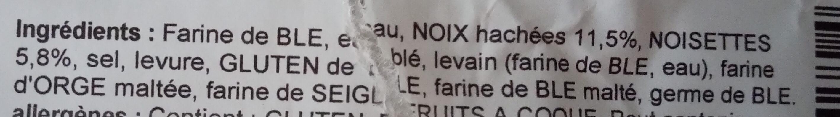 Pain noix et noisettes - Ingredienti - fr