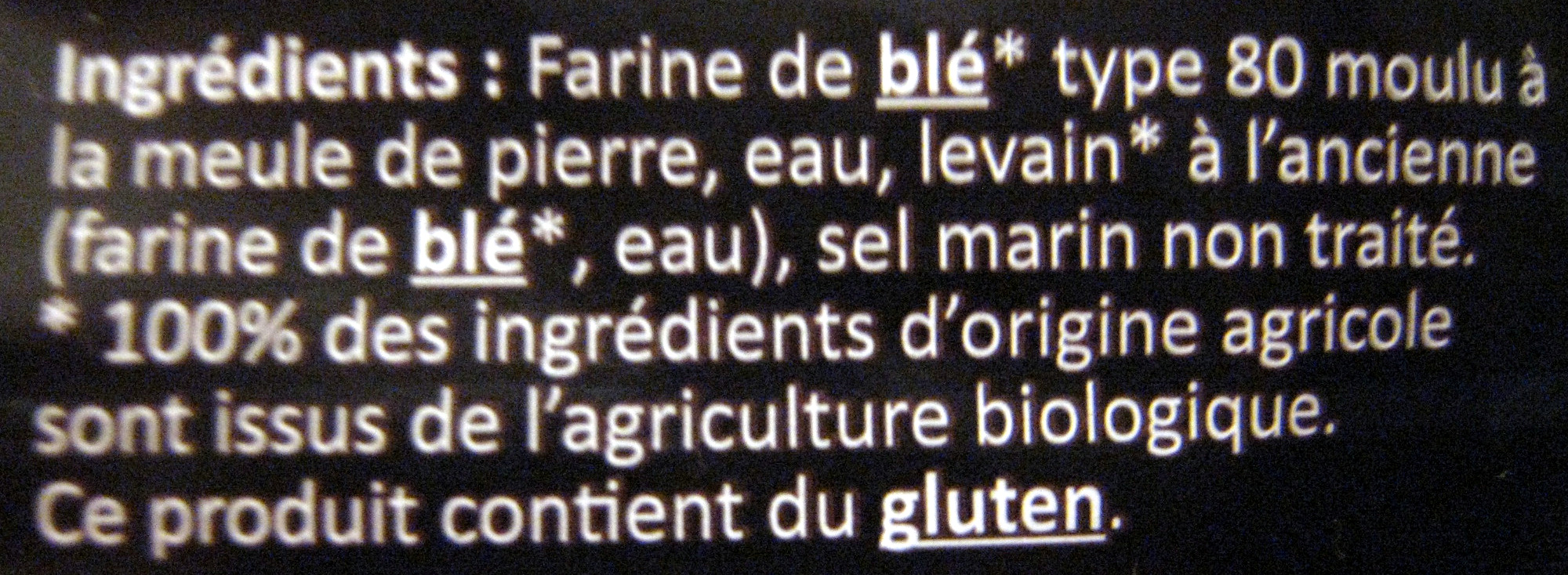 Pain rustique - Ingredients - fr