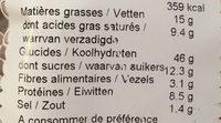 300G Brioche a L Epeautre - Informations nutritionnelles - fr